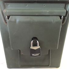 5 .50 Cal Ammo Can Lock. Safe .30 7.62 Child Pistol Rifle gun Surplus stash box