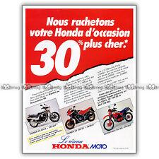 PUB HONDA CX 650 E, VF 750 FE, XLV 750 RD Original Advert / Publicité Moto 1985