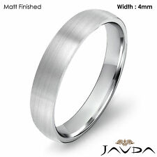 4mm Wedding Ring Platinum Dome Shape Light Comfort Fit Men High Polish Band 6.5g