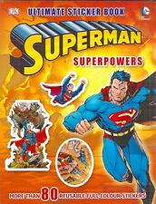 SUPERPOWERS SUPERMAN ULTIMATE STICKER 80 Brand New Film TV DK activity paperback