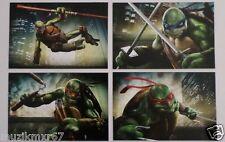 SDCC Comic Con 2013 EXCLUSIVE Teenage Mutant Ninja Turtles Lobby Cards set of 4