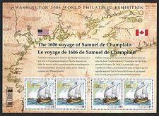 scott 4074 THE 1606 VOYAGE OF SAMUEL DE CHAMPLAIN SOUVENIR SHEET New sealed 39c