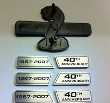 40th Anniversary Grille and Fender Wing emblem kit for your Mustang Shelby GT500