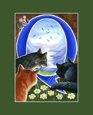 "Alphabet Cat ACEO Print Letter ""Q"" by I Garmashova"