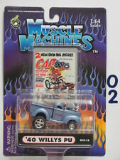 MUSCLE MACHINES CARTOONS  '40 WILLYS PU C02-16  1:64 SCALE