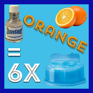 6 Orange Refills Compatible with Braun Clean & Renew Cartridges Systems