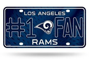 Los Angeles Rams #1 Fan Metal Sign License Plate Tag Man Cave NFL