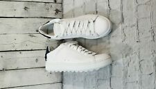 Coach C101 White Midnight Navy Leather Sneakers WOMEN'S SIZE 9.5