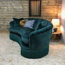 Alexander James Grace maxi 4 str sofa Chesterfield jade green victorian antique