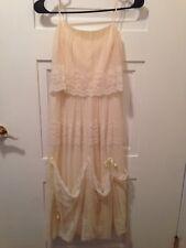 Vintage Antique Cream Lace Dress Bride Halloween
