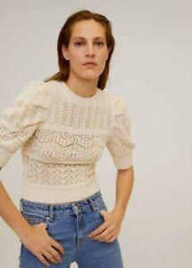 BNWT Mango Crochet Top - Beige - Size S