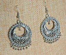 Jhumki Earrings Brass w/Silver Plating Hand Made by Artisans Fair Trade