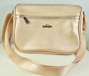 Kipling Crossbody Bag Callie Vegan Leather Rose Gold Metallic