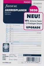 Filofax Pocket 2020 A7 Kalender Einlage 2Tage 1Seite Kalenderblätter 20-68223