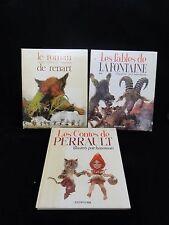 LOT 3 LIVRES HAUSMAN JEAN DEPUIS LES CONTES PERRAULT ROMAN RENART FABLES (D194