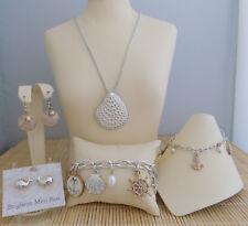 """Brighton """"cape Cod"""" Necklace Bracelet & 2 PR Earrings & Anklet 5pc -"""