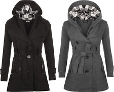 Plus Size Checked Button Coats & Jackets for Women
