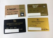 4 Vintage Expired Credit Cards For Collectors - Hotel Charge Card Lot (7146)