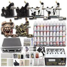 Complete Beginner Tattoo Kit 6 Machine 40 Inks SuitCase Power Supply Needle Set