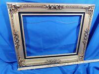 FANCY Gold Black Art Painting Picture Frame Wood VTG Antique-Style Gilt 24x20,