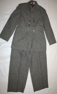 WOMENS 3pc gray suit skirt pants jacket BANANA REPUBLIC size 4