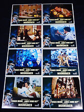 MOONRAKER 1979 * ROGER MOORE JAMES BOND 007 * LOBBY CARD SET * C10 MINT UNUSED!!