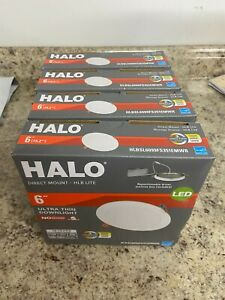 """Lot of 4 Halo 6"""" LED Ultra Thin Downlight Color Selectable HLBSL6099FS351EMWR"""
