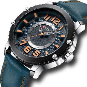 Men Watches Army Wristwatches Waterproof Genuine Leather Quartz Boys Sport Watch
