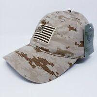 US Beige Military Hat Camouflage Flag Genuine United States Rapid Dominance Cap