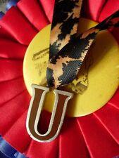 RARE Vintage GUCCI Enamel U Pendant Charm 925 Enamel Statement Jewelry Initial