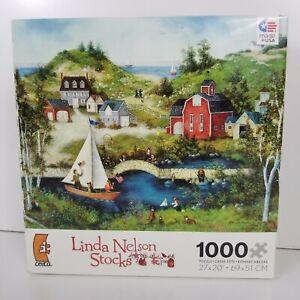 Linda Nelson Stocks Sasha Salutes The Flag 1000 Piece Puzzle