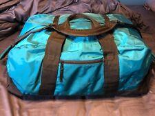 LL Bean Large Adventure Travel Duffle Bag- Teal, Blue