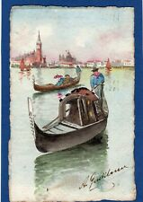 More details for venice hand painted artist signed  postcard used 1924  x700
