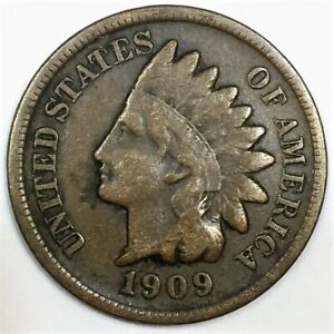 1909-S Indian Head Penny Beautiful Coin Rare Date