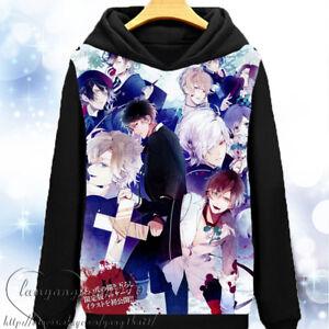DIABOLIK LOVERS Sakamaki Long Sleeve Jacket Sweatshirts Hoodies Coat Winter