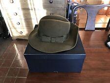 Burberrys Of London Women's Green100% Wool Felt Hat with Box, 6 7/8 S/M