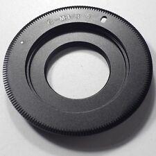 Black Magic C Mount TV Lens to BMPCC Adapter MFT Micro 4/3 Camera Super Slim