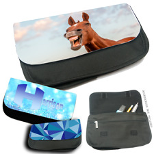 PERSONALISED CUSTOM PRINTED PHOTO Pencil Pen Case Make up Bag YOUR PICTURE GIFT