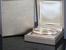 $7,850 Bvlgari Bulgari B.Zero1 18K Rose Gold White Ceramic Bangle Bracelet Sz M