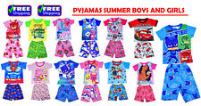 NEW KIDS SUMMER PYJAMAS GIRLS BOYS OUTFITS DRESSES SLEEPWEAR NIGHTIE PJ MASK PAW