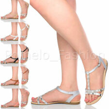 T Bars Slim Heel Casual Sandals & Beach Shoes for Women