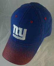 New York Giants Hat - NFL - NY Blue + Red USA Adjustable Velcro.