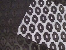 Black Chiffon Burnout with Geometric Repeating Design - from Japan