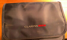 Clarins Men Small Navy Blue Wash Toiletry Travel Gym Holiday Grooming Bag