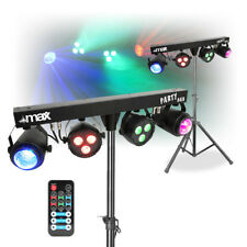 DJ Party Disco Light Set Partybar MoonFlower Lighting Rail PAR T-BAR Stand DMX
