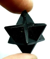 Black Obsidian Merkaba Star Reiki Energy Charged Crystal Healing Protective Gem