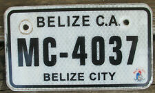 BELIZE CITY, BELIZE Expired 2015 Motorcycle License Plate - MC-4037