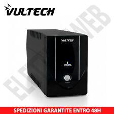 VULTECH UPS1200VA-LITE GRUPPO DI CONTINUITÀ UPS 1200VA X PC Bipasso Schuko