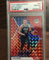 2019-20 Panini Red Mosaic Prizm Luka Doncic Dallas Mavericks PSA 10 GEM MINT