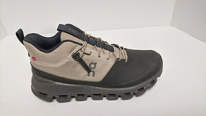 On Cloud Hi Running Shoes, Sand/Black, Women's 8.5 M